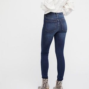 Free People Long and Lean High Rise Dark Wash Jean
